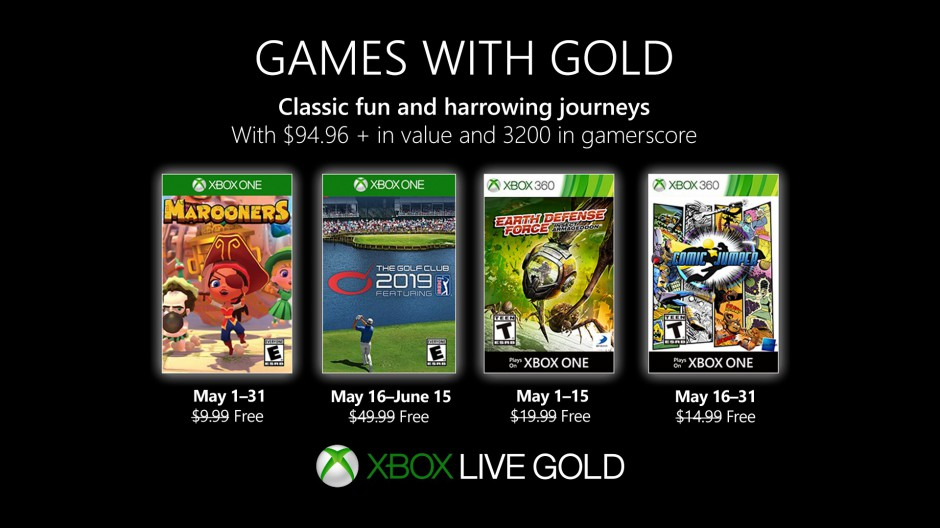 Xbox – May 2019 Games with Gold
