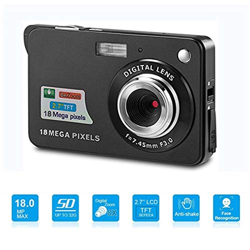 Youmeet Digital Cameras - 2.7 inch 18 MP Compact Digital Camera for Holiday Family,Friends,Kids,School,Students (BLACK) 1
