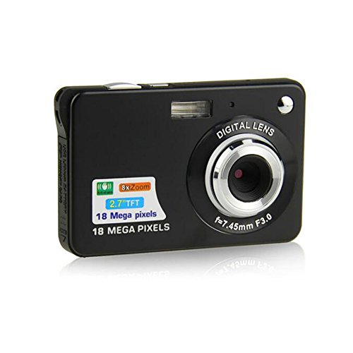 ZOOMK Camera Digital Cameras - 2.7 inch 18 MP Cameras for Family,Friends,School,Students,Holiday (Black) 1