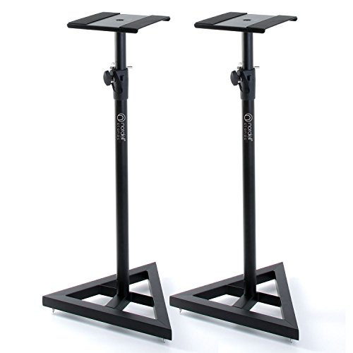Nordell Premium Floor Speaker Stand (Pair) for Studio Monitors and Hi-Fi Loudspeakers - Create Truer Mixes with Optimum Loudspeaker/Monitor Height and Positioning with Rotating Plate for Speakers 1
