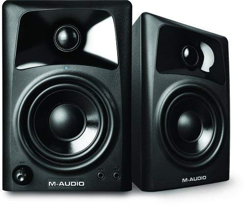 M-Audio AV32 | Compact Active Desktop Computer Monitor Speakers (Pair) for PC Speaker Playback, Media Creation and Immersive Gaming Sound 1