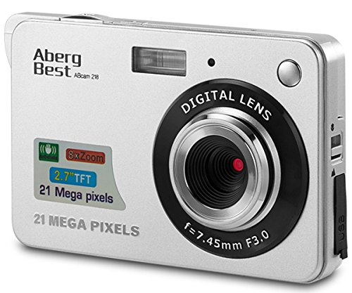 """AbergBest 21 Mega Pixels 2.7"""" LCD Rechargeable HD Digital Video Students Cameras-Indoor Outdoor for Adult/Seniors/Kids, Silver 1"""