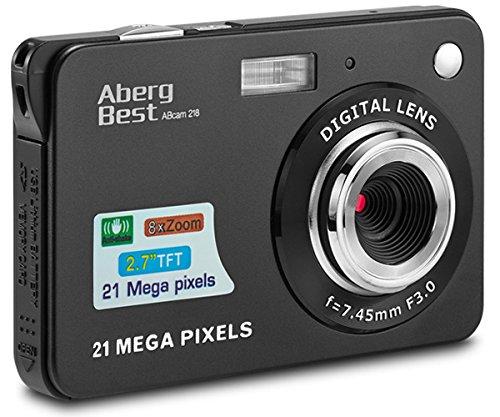 "AbergBest 21 Mega Pixels 2.7"" LCD Rechargeable HD Digital Video Students Cameras-Indoor Outdoor for Adult/Seniors/Kids, Black 1"