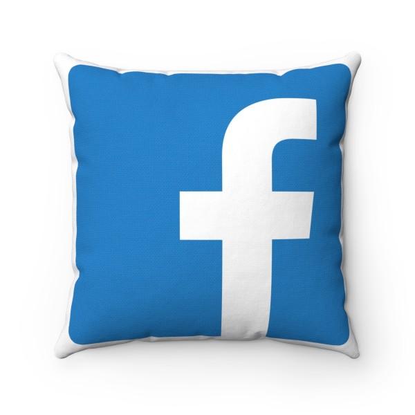 Facebook Spun Polyester Square Pillow Case 1