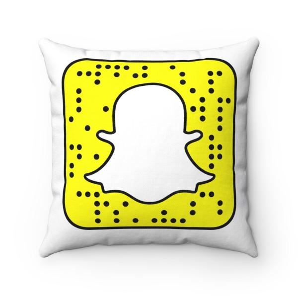 SnapChat Spun Polyester Square Pillow Case 1