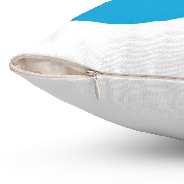 Twitter Spun Polyester Square Pillow Case 6