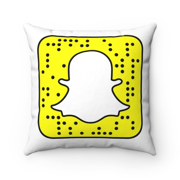 SnapChat Spun Polyester Square Pillow Case 5